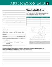 WoodenBoat School Course Application